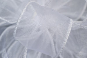 Wired Chiffon White 50yds Ribbon